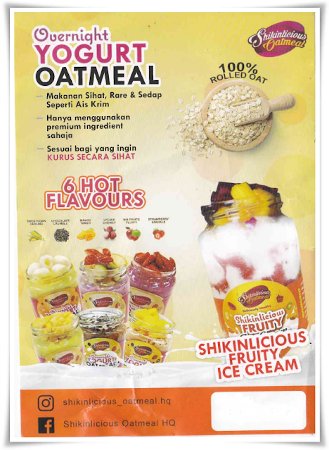 Shikinlicious oatmeal | Oatmeal dan ice-cream yang 'super' sedap