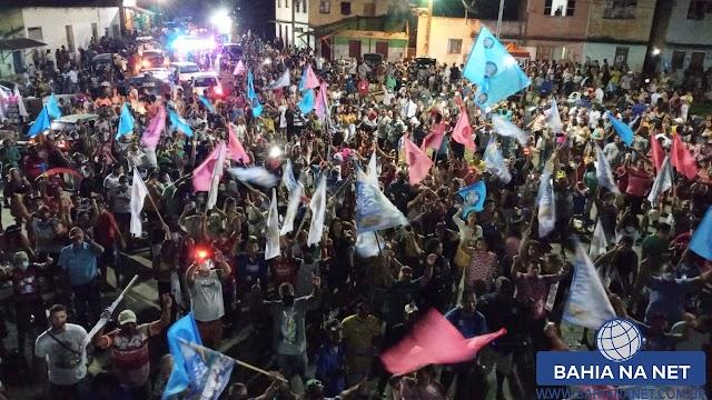 Itapebi: Peba discursa para milhares de pessoas na Cidade Baixa