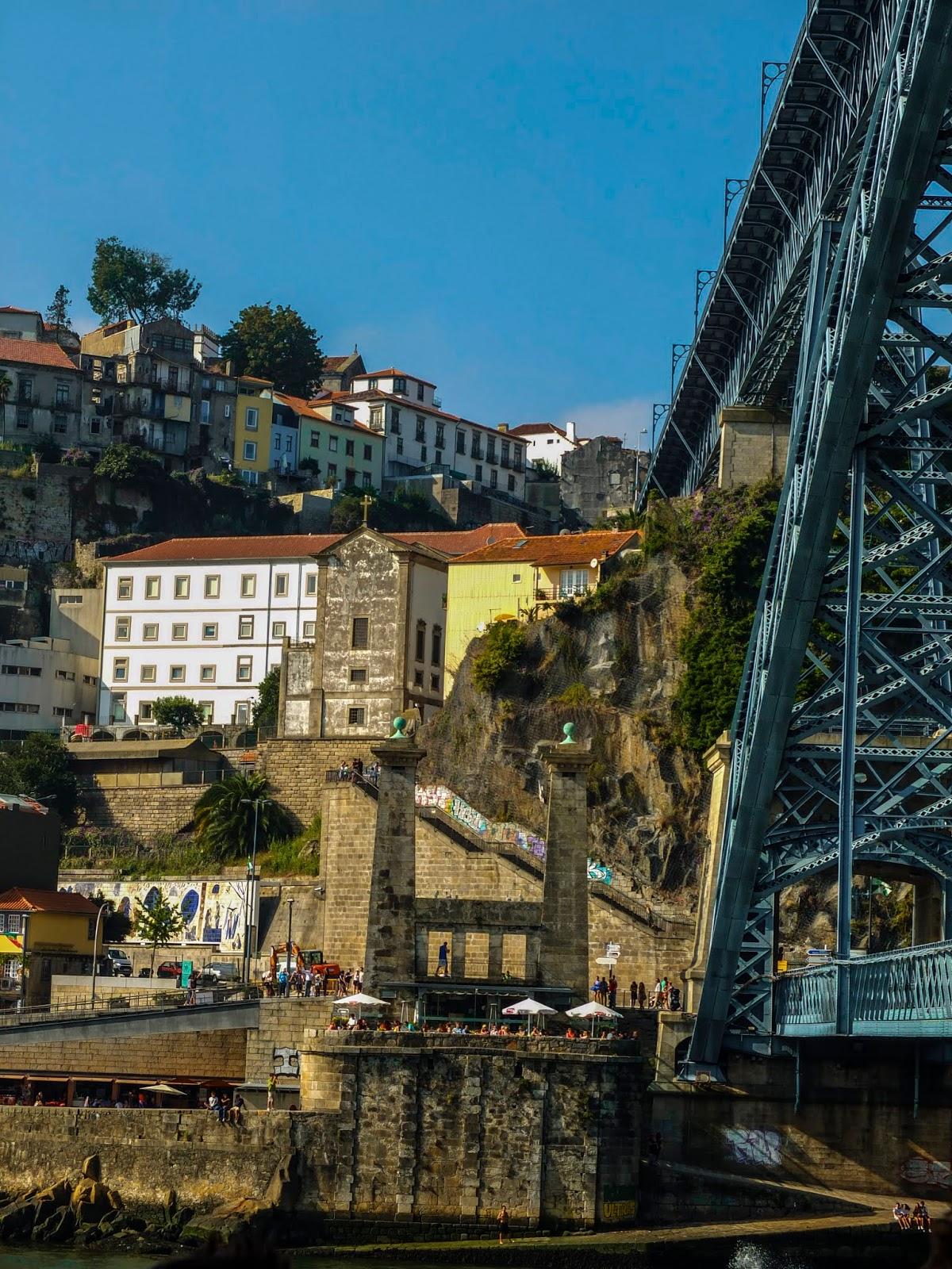 A view of the Dom Luis I Bridge in Porto, Portugal.