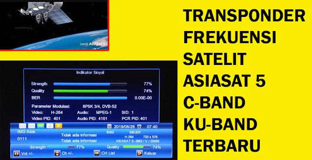 transponder frekuensi satelit asiasat 5 c-band dan ku-band terbaru