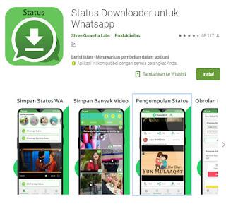 Download video, Aplikasi, status downloader untuk whatsapp
