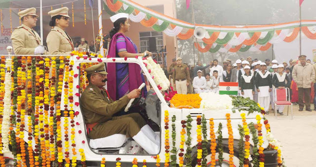 In the celebration of the Republic Day celebration in Palwal, the Board Commissioner Dr. G. Anupama did flag hoisting