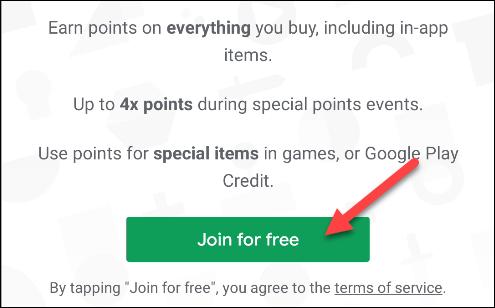 الانضمام إلى نقاط google play مجانًا