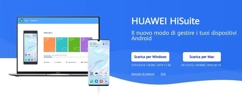 huawei hisuite programma per computer