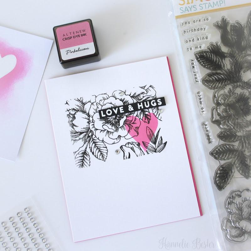 Simon says stamp - beautiful flowers