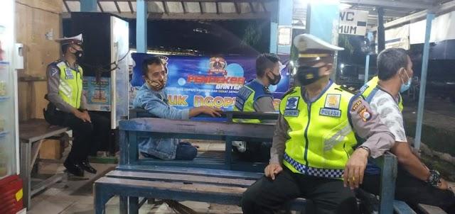"Gelar ""Yuk Ngopi Wae"" Ditlantas Polda Banten, Sampaikan Himbauan Pada Masyarakat"
