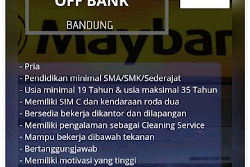 Lowongan Kerja Bandung Cleaning ATM Off Bank Duta Griya Sarana