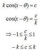 Bentuk a Cos x + b Sin x = c