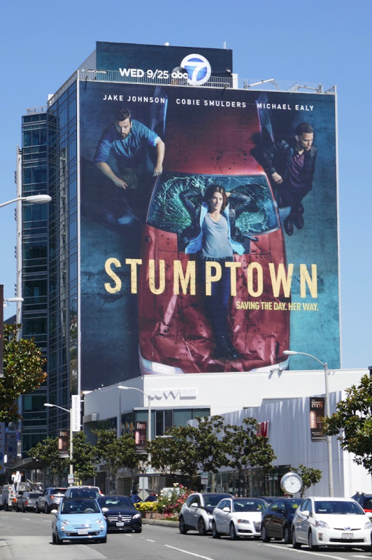 Giant Stumptown series premiere billboard