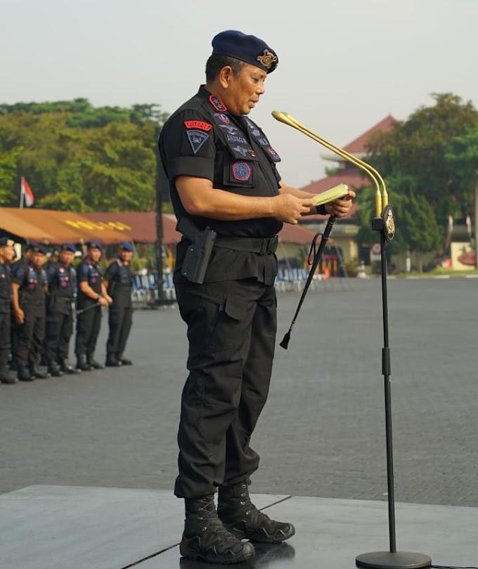 Dan Korbrimob Pimpin Apel Gelar Pasukan Pengamanan Tahun Baru 2020