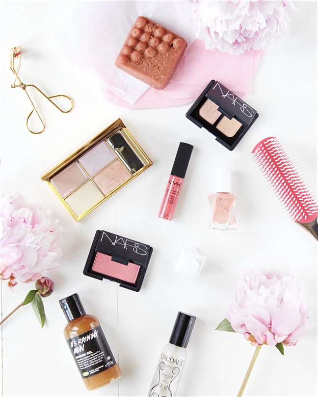 beauty blogger flatlay summer beauty
