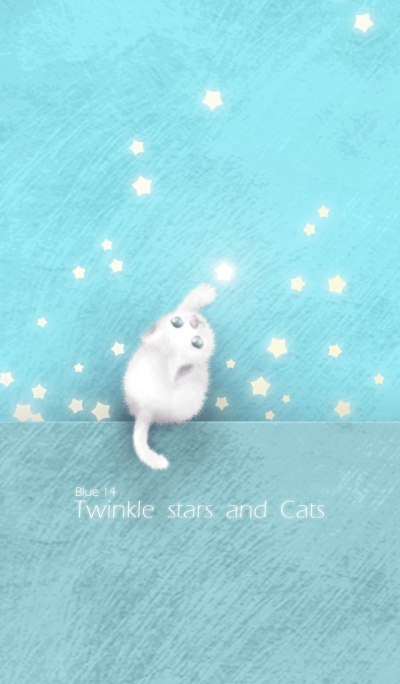 Twinkle stars and cats/blue 14