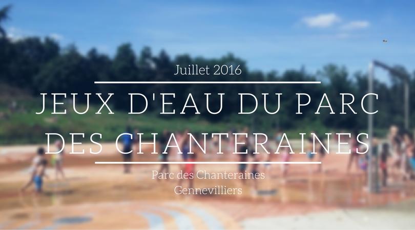 Les jeux d'eau du parc des Chanteraines