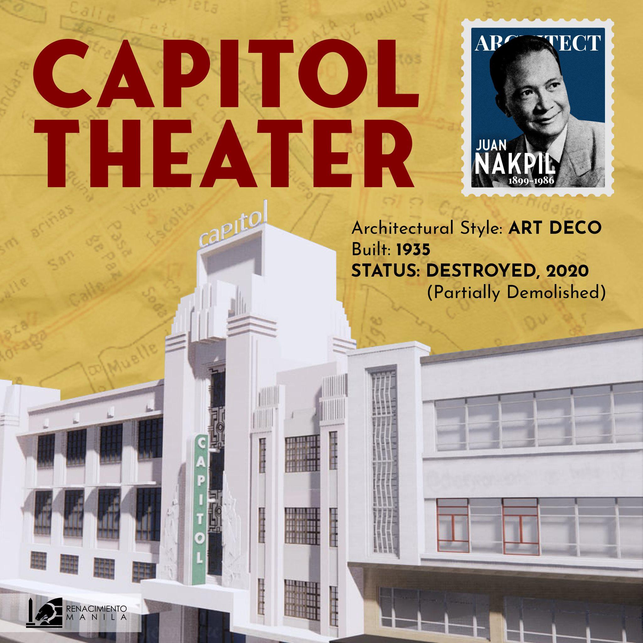 Capitol Theater - Juan Nakpil (1899-1986)