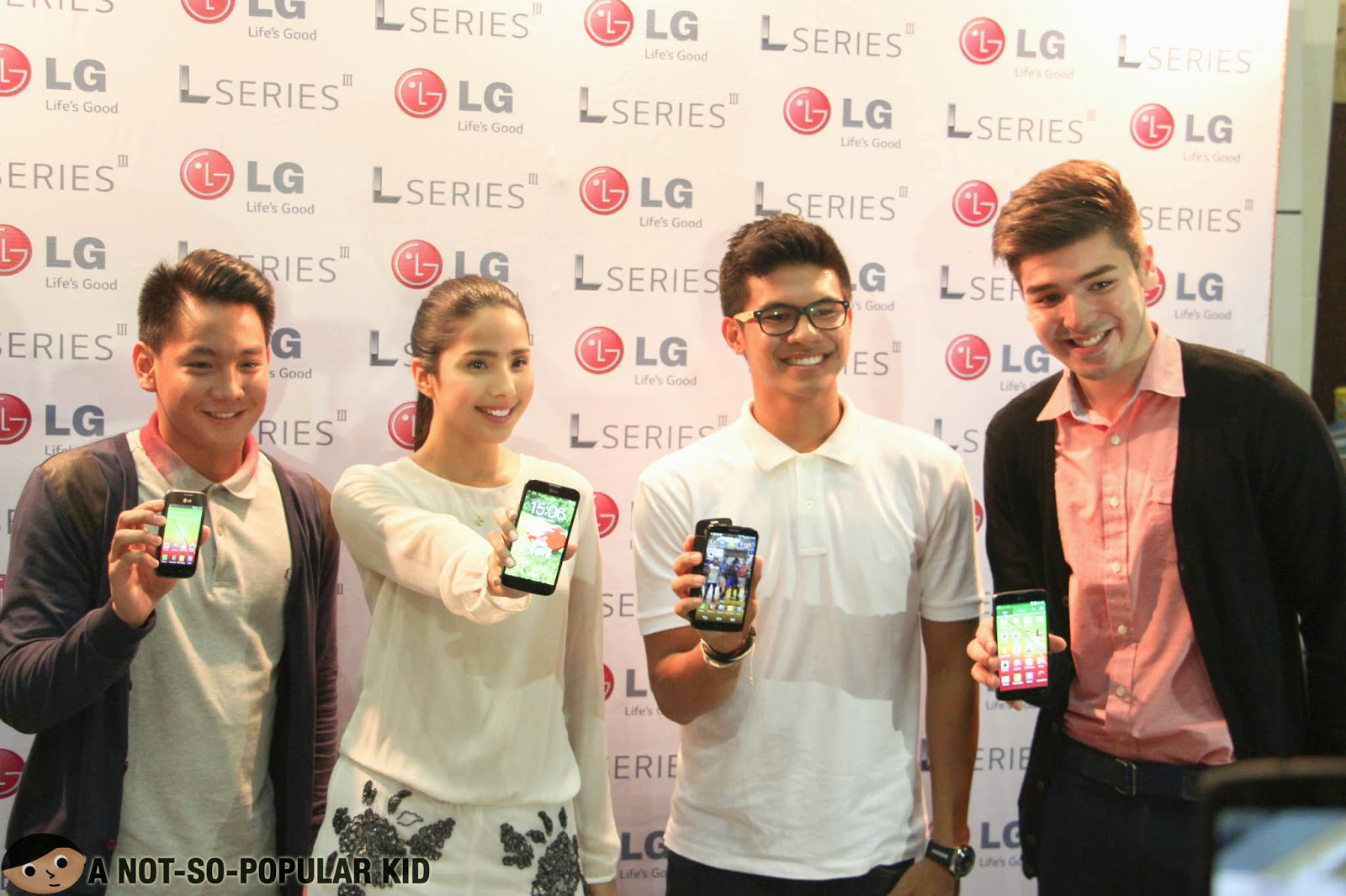 The Newest LG Brand Ambassadors - Thomas Torres, Maxene Magalona, Kiefer Ravena and Andre Paras