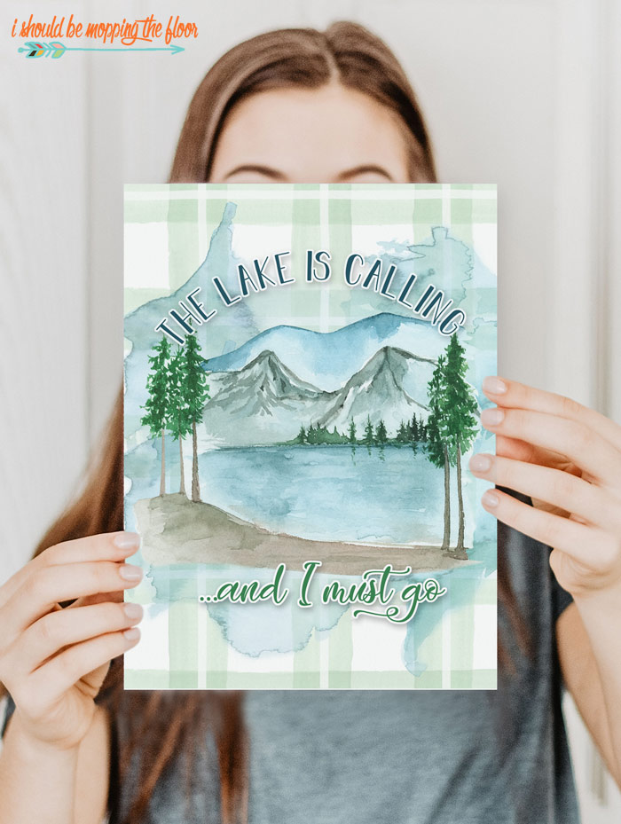 Free Lake Art Printables