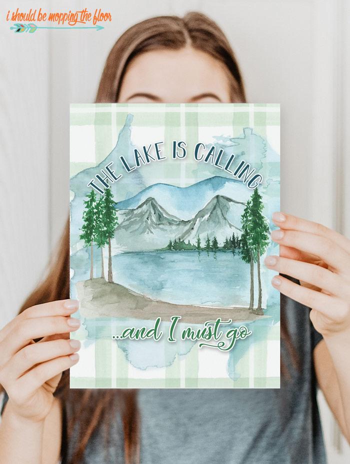 Free Lake Art Printables