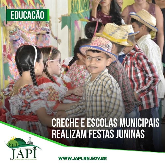 Festas juninas agitam rede municipal de ensino de Japi
