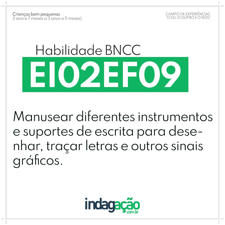 Habilidade EI02EF09 BNCC