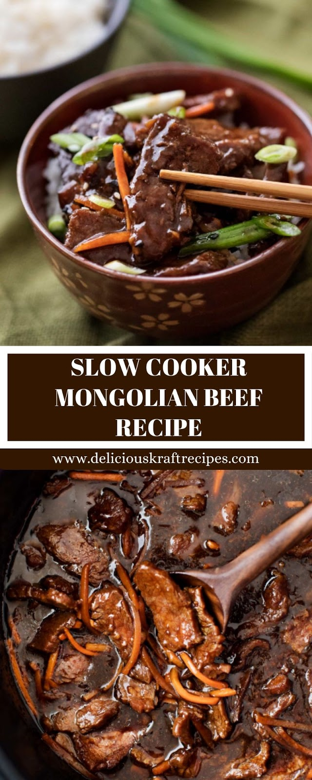SLOW COOKER MONGOLIAN BEEF RECIPE