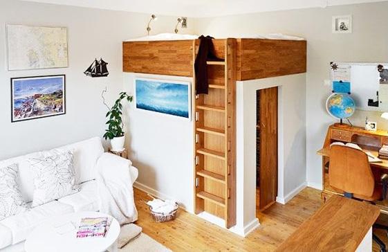 installer une mezzanine au dessus d'une pièce pour petits espaces et gain de place