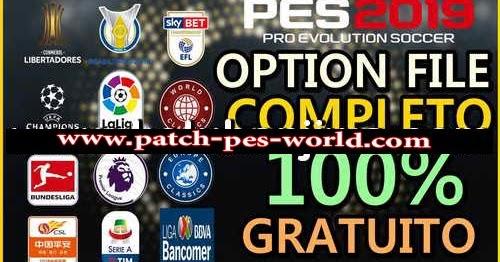 PES 2019 PS4 + PC Pes Vício BR Option File v5 AIO - PES BELGIUM GLORY