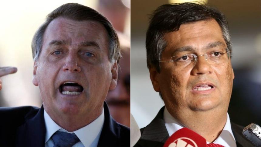 Bolsonaro e Flávio Dino