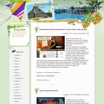 Feel Hot Mexico Blogger Template. free download template blogspot