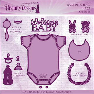 Custom Dies: Baby Blessings