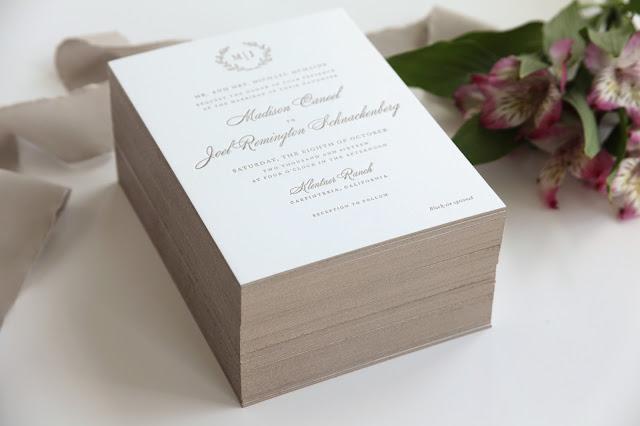 letterpress invitation edge painting