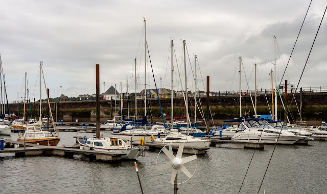 Photo of cloudy but bright conditions at Maryport Marina on Thursday afternoon