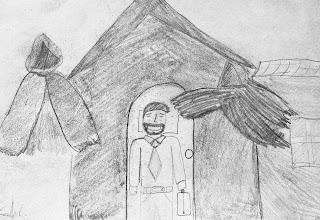 Cuento: El hermano gozo y los ataques del Diablo, dibujo Caleb,