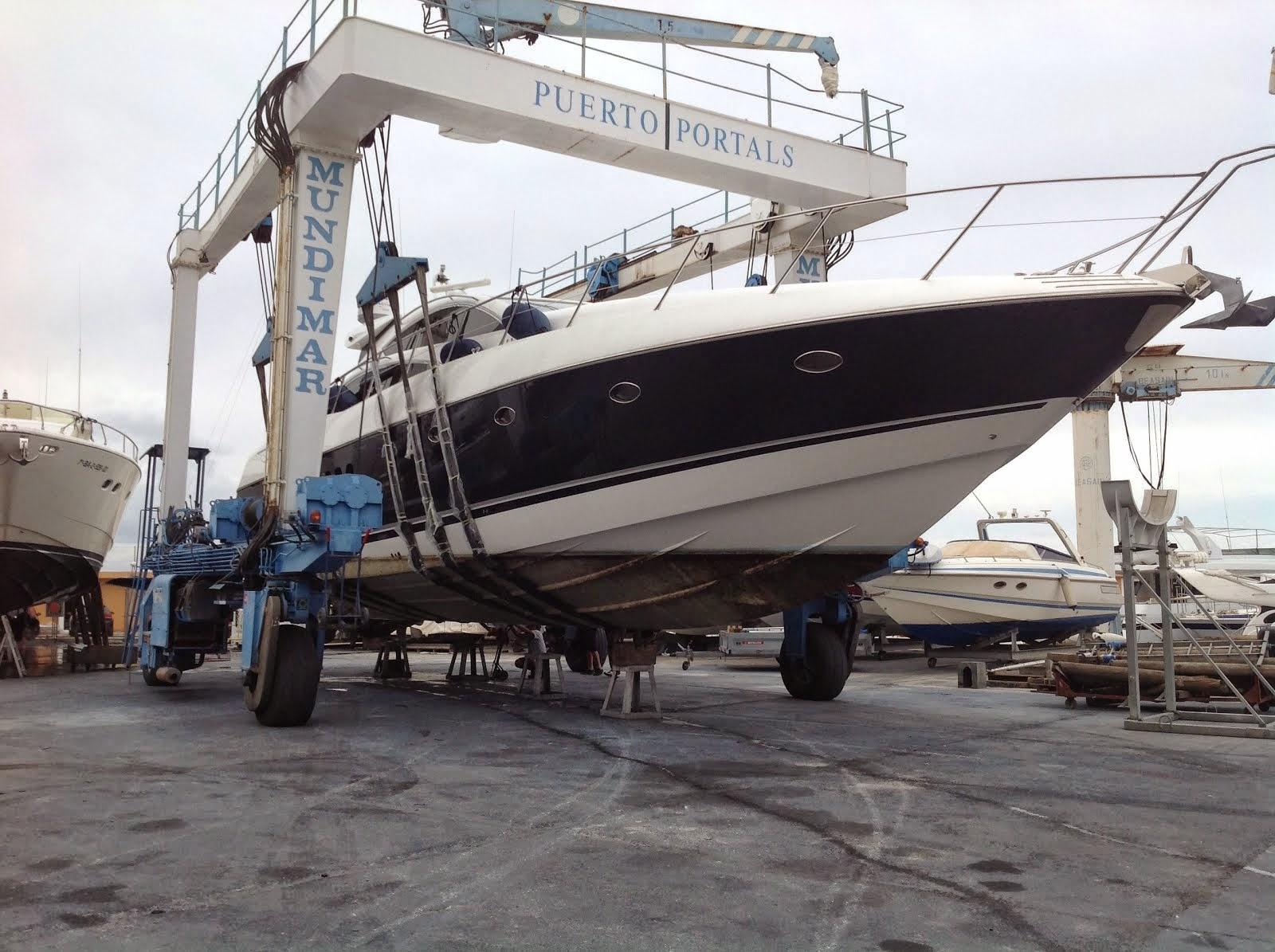 Yacht in shipyard period