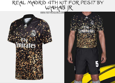 PES 17 Real Madrid 4th Kit For 2019/20 by WAHAB JR