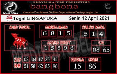 Syair SGP bang bona 12 April 2021