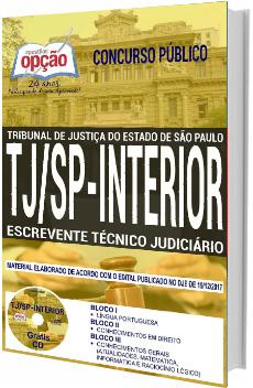 Apostila Concurso TJ-SP Interior 2018 Escrevente Técnico Judiciário