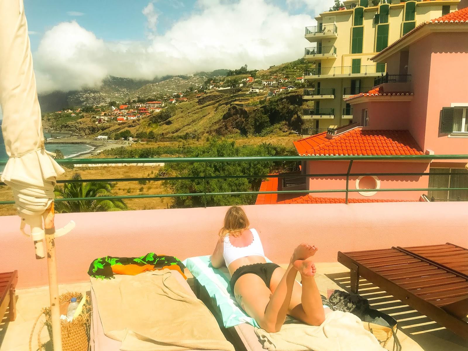 sea view from sunbeds in Madeira holiday