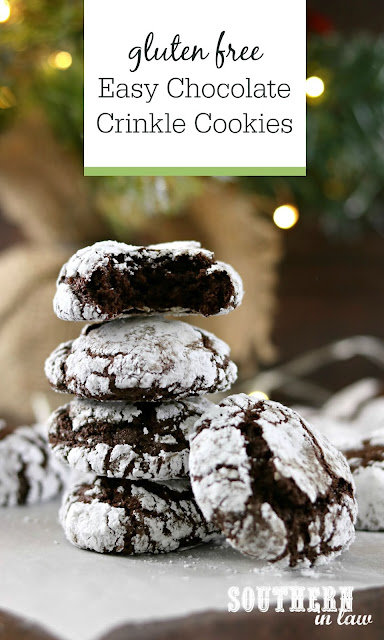 Gluten Free Easy Chocolate Crinkle Cookies Recipe - the best christmas cookies recipe, gluten free, nut free, christmas cookie swap recipes