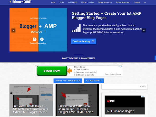 BlogrAMP Version 2 AMP HTMP Valid Blogger Theme Install in Minutes