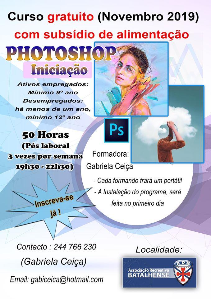 Curso gratuito de Photoshop – Batalha