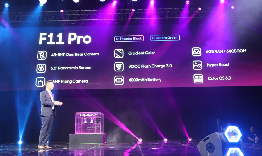 The official specs of OPPO F11 Pro.