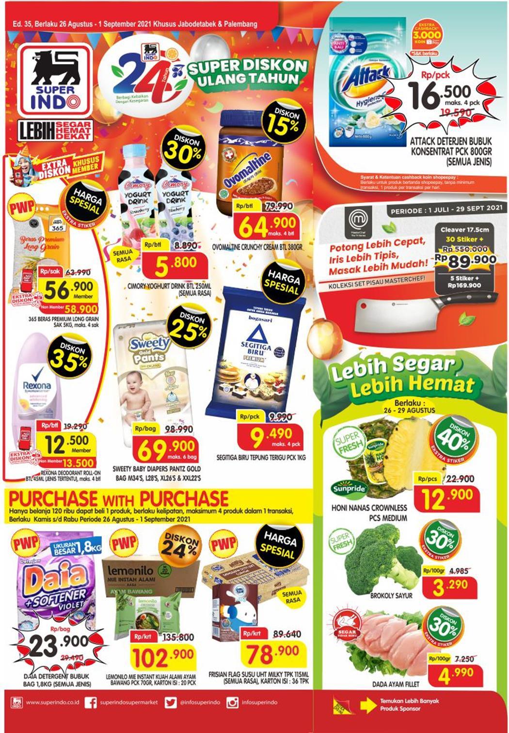 Katalog Superindo Promo Superindo Mingguan 26 Agustus - 1 September 2021