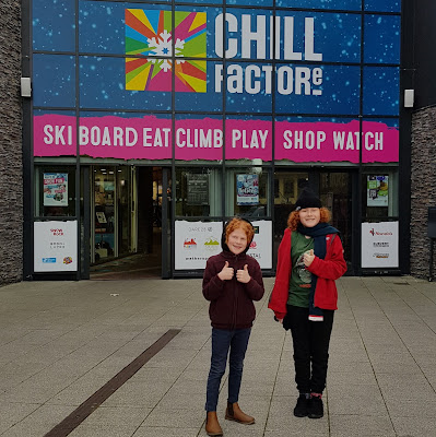 Chill Factorᵉ Entrance with legend ski board eat climb play shop watch