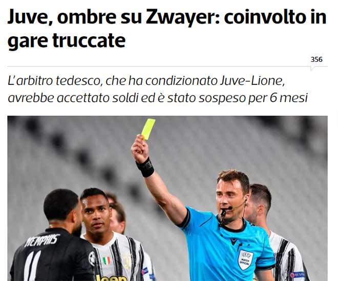 """Trọng tài trận Juventus bị loại khỏi Cúp C1  bị """"phanh phui"""" dàn xếp tỷ số 2"""