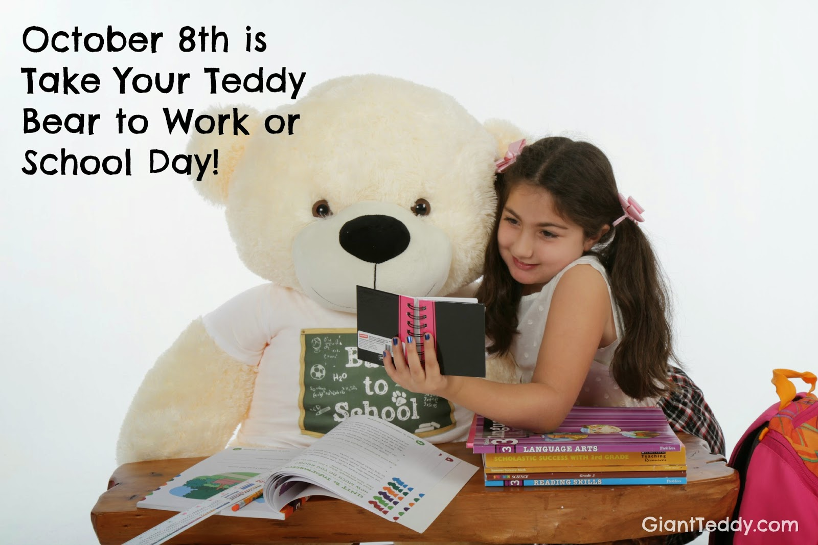 Take your teddy bear to work or school