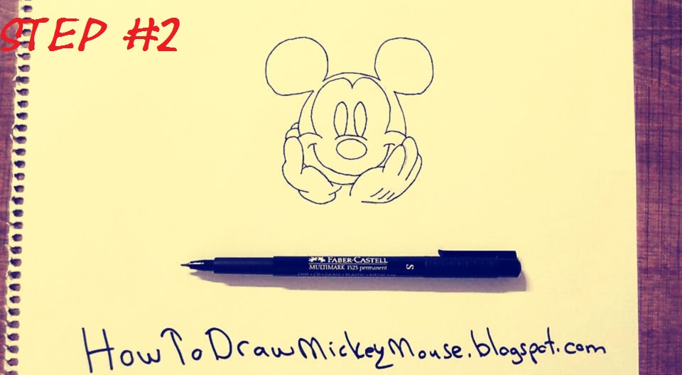 how to draw mickey mouse step by step for beginners