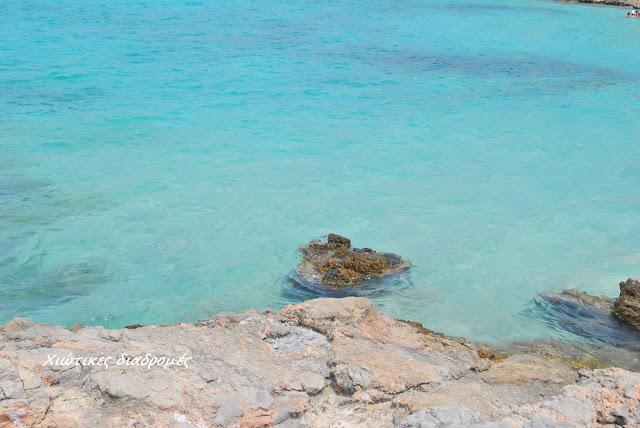 Αγ.Δύναμη μια παραλία με σμαραγδένια νερά στο νότιο τμήμα της Χίου κοντά στους Ολύμπους και το Πυργί