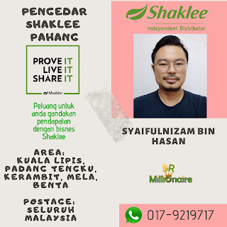 Pengedar Shaklee Kuala Lipis - 0179219717