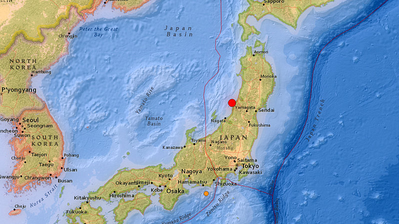 Japan issues tsunami warning after the magnitude 6.5 earthquake off the coast