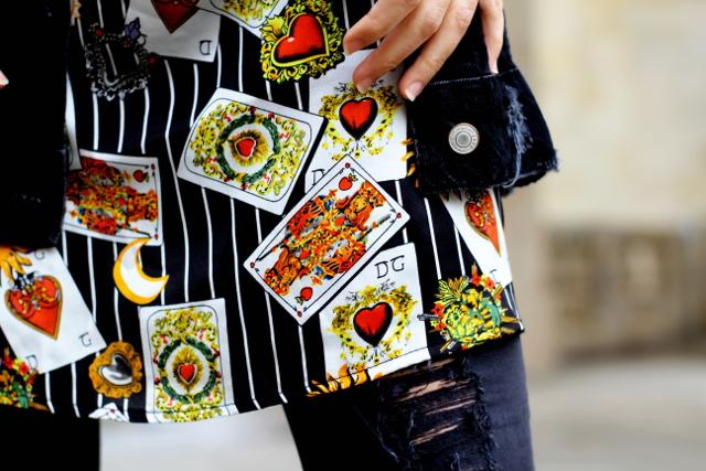 Blusa con estampado original